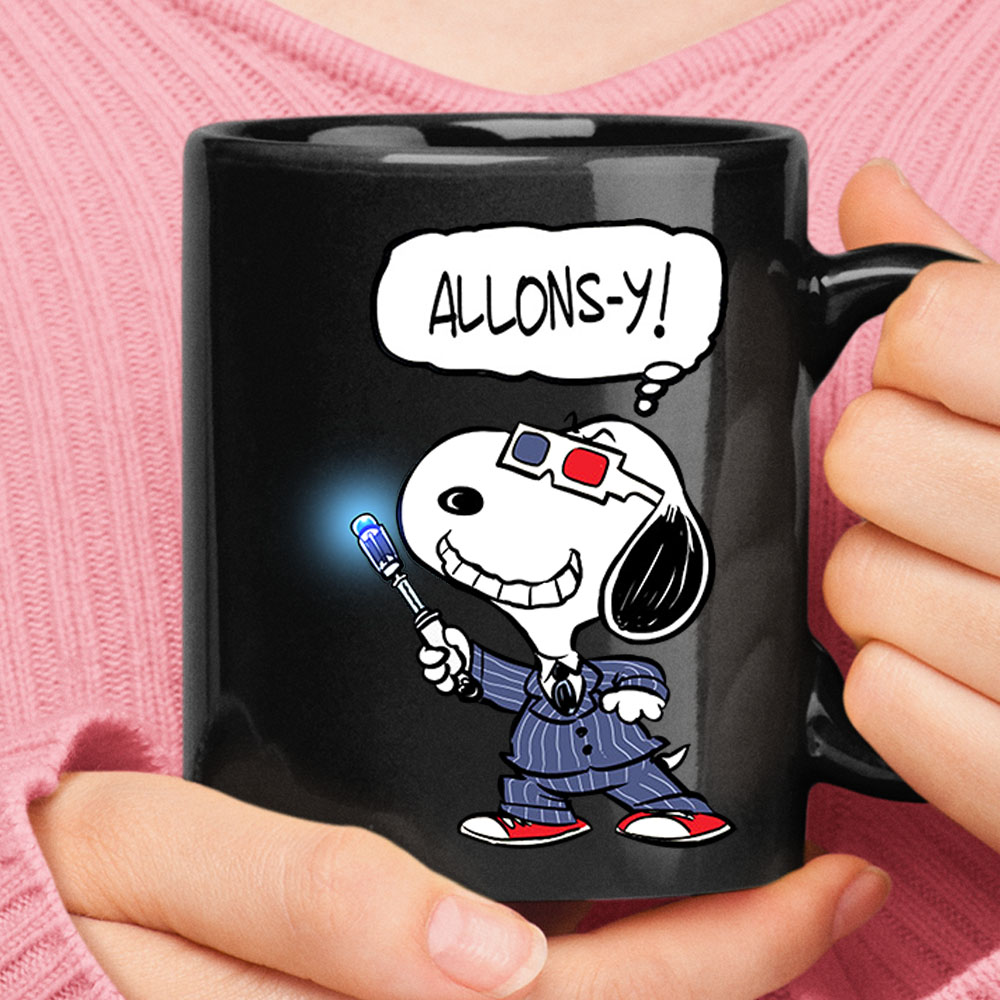 10th Doctor Snoopy Allons-y Doctor Who Mug 1
