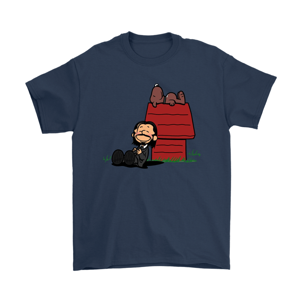 John Wick Charlie Brown And Snoopy Resting By The Dog House Shirts 3