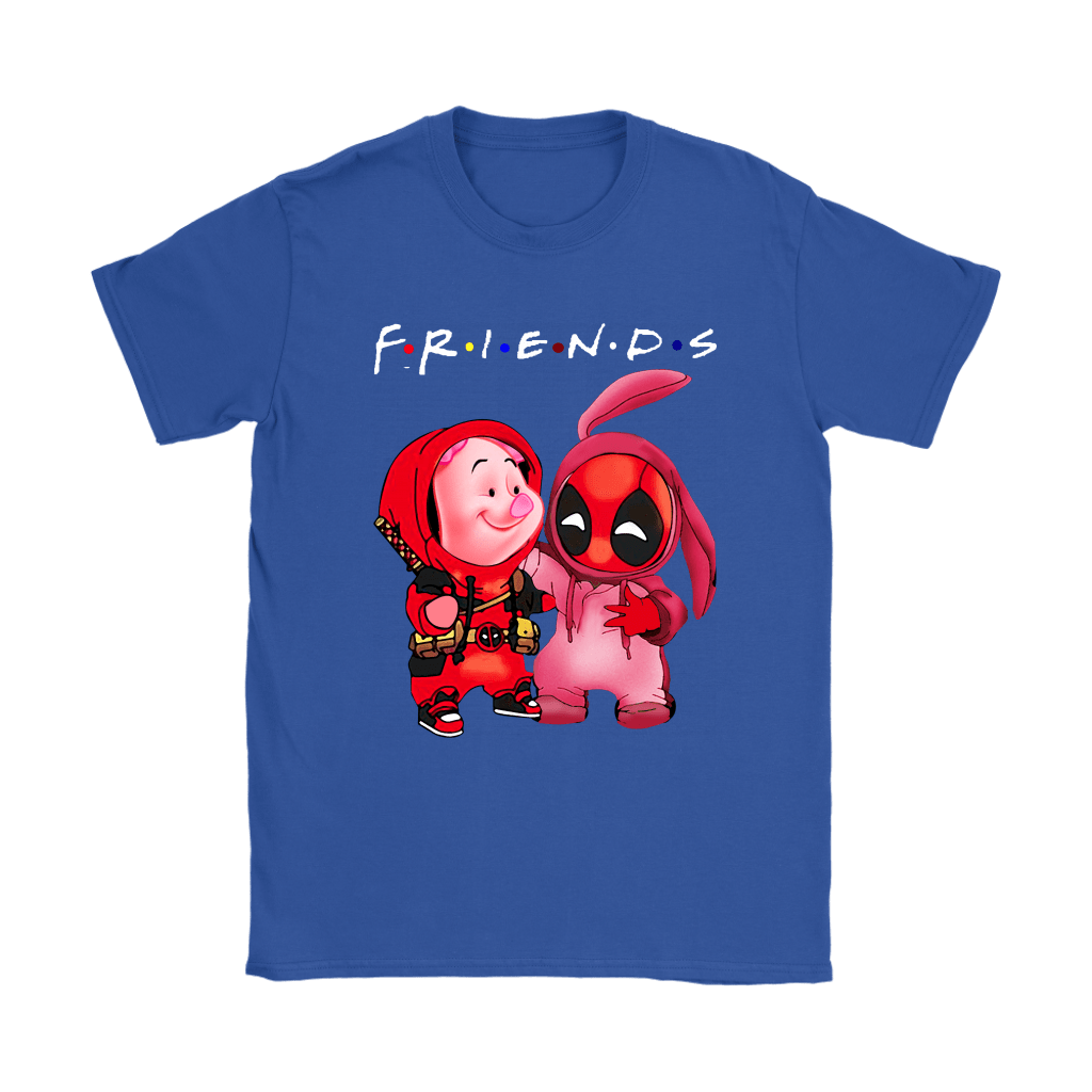 Piglet And Deadpool Costumes Exchange FRIENDS Shirts 11