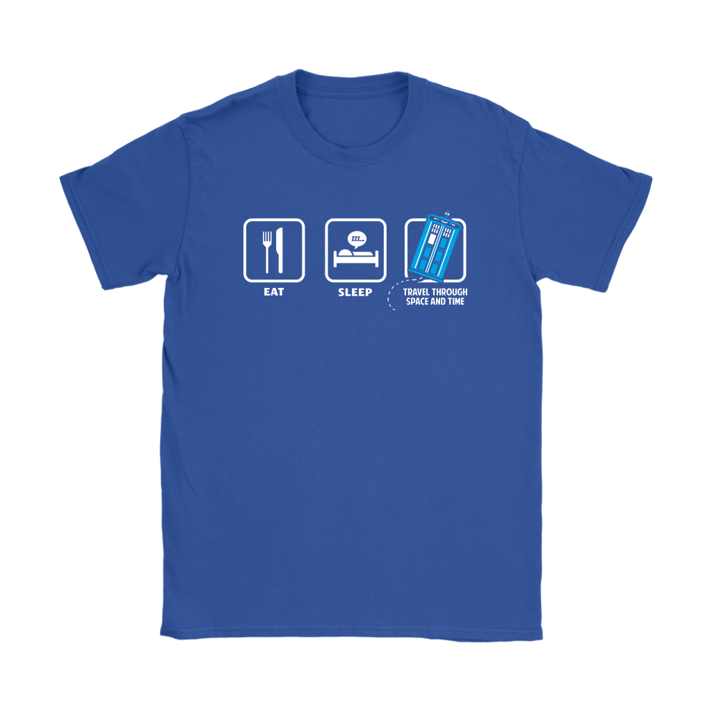 Eat Sleep Travel Through Space And Time Doctor Who Shirts 10