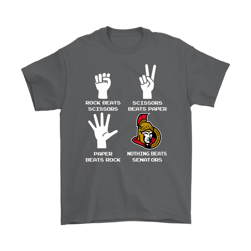 Rock Paper Scissors Nothing Beats The Ottawa Senators Shirts 2