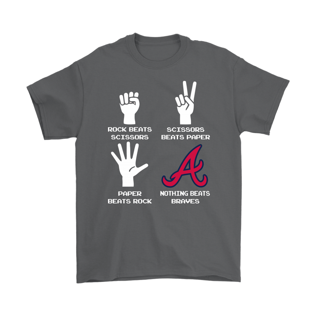 Rock Paper Scissors Nothing Beats The Atlanta Braves Shirts 2