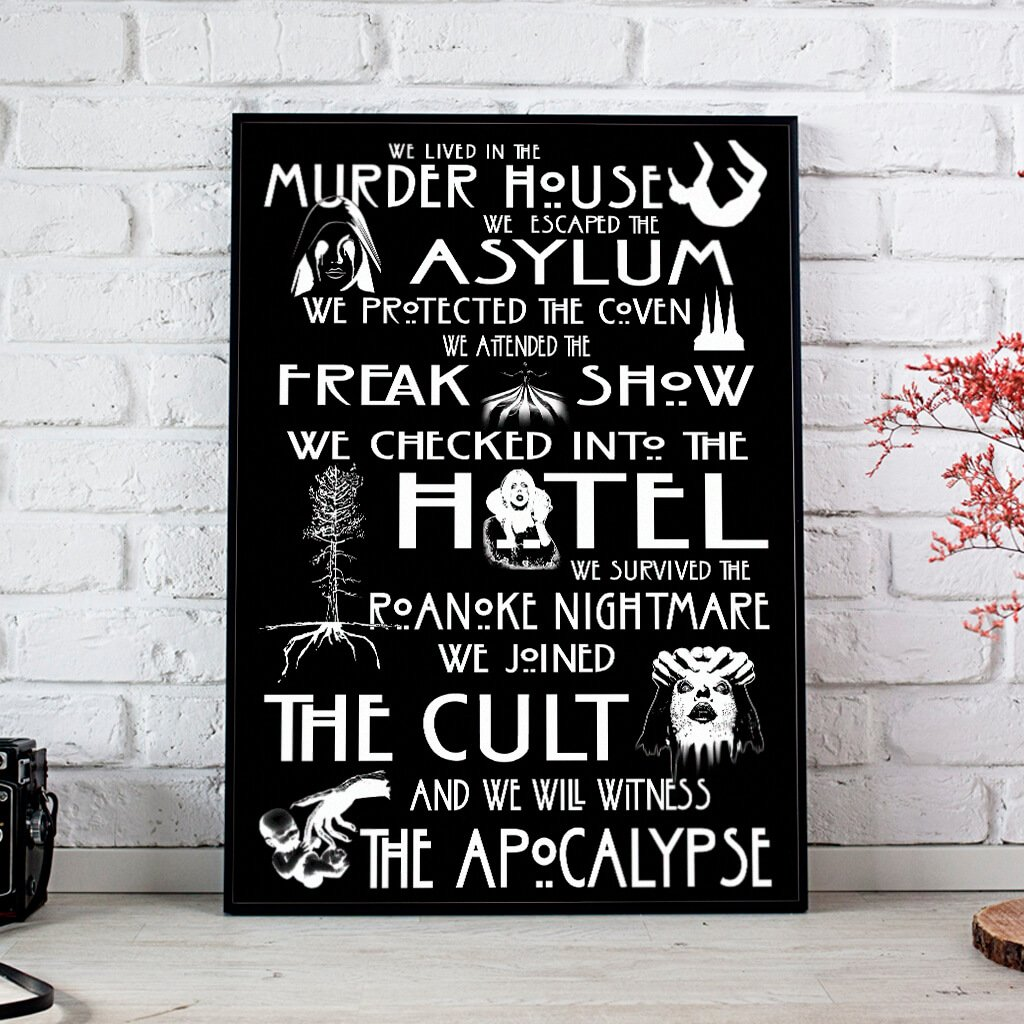 We Lived In Murder House American Horror Story Posters 1