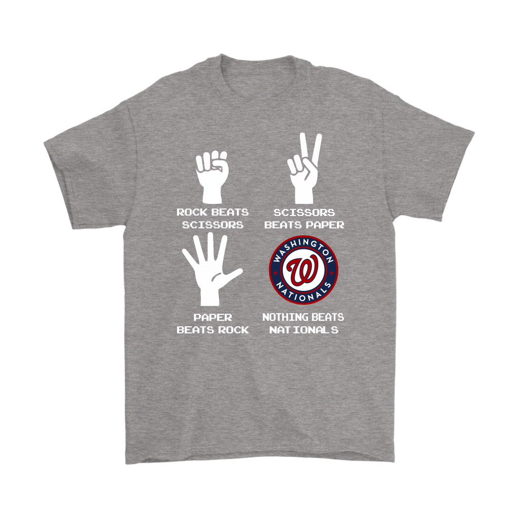 Rock Paper Scissors Nothing Beats The Washington Nationals Shirts 7