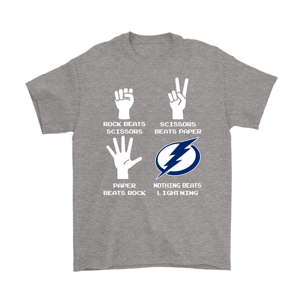 Rock Paper Scissors Nothing Beats The Tampa Bay Lightning Shirts 7