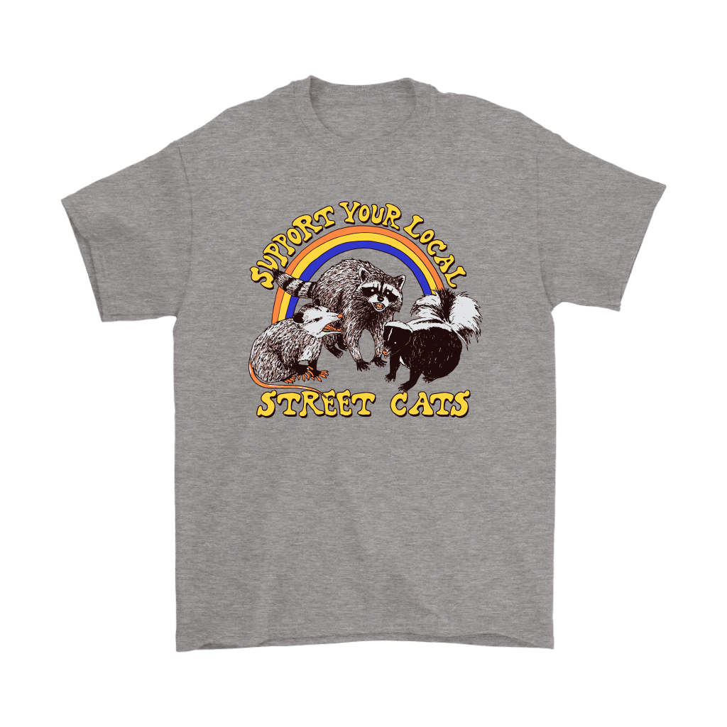 Support Your Local Street Cats Trash Panda Skunk Wild Animal Shirts 6