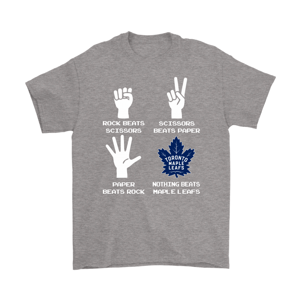 Rock Paper Scissors Nothing Beats The Toronto Maple Leafs Shirts 7
