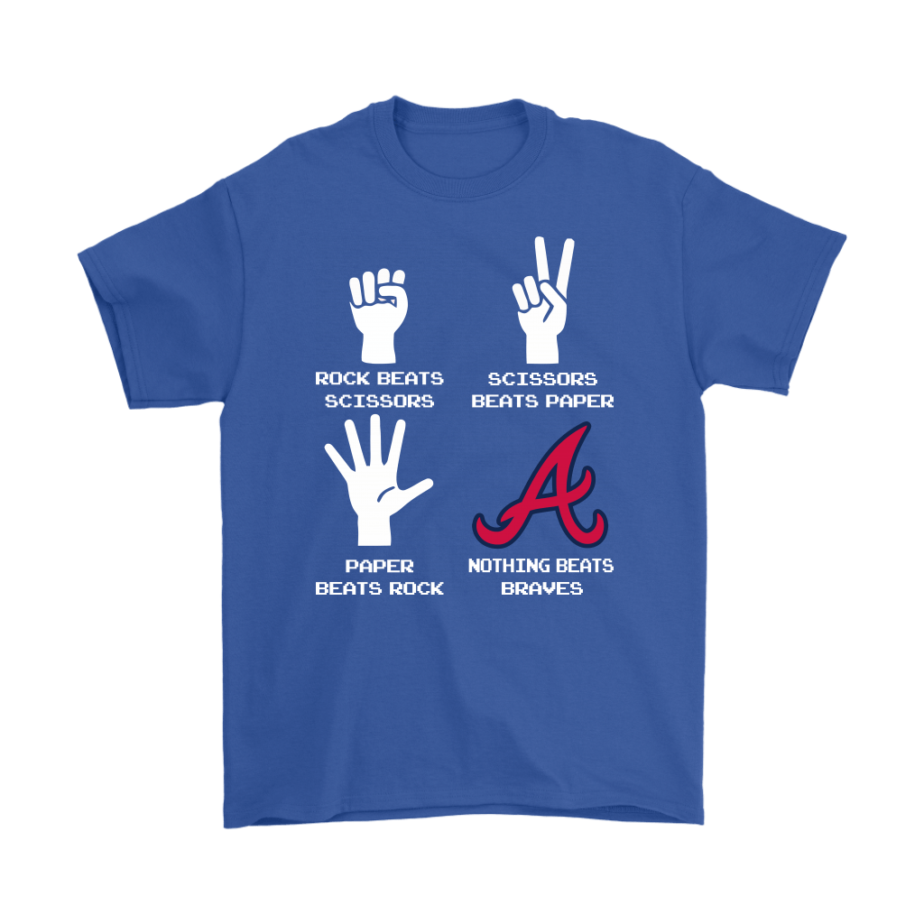 Rock Paper Scissors Nothing Beats The Atlanta Braves Shirts 6