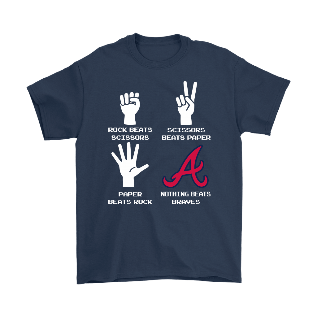 Rock Paper Scissors Nothing Beats The Atlanta Braves Shirts 3