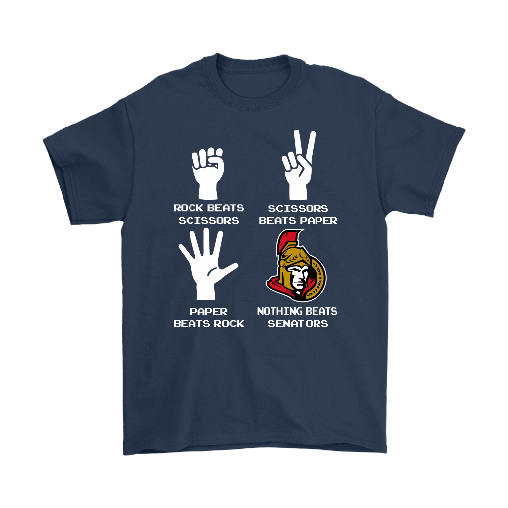 Rock Paper Scissors Nothing Beats The Ottawa Senators Shirts 3