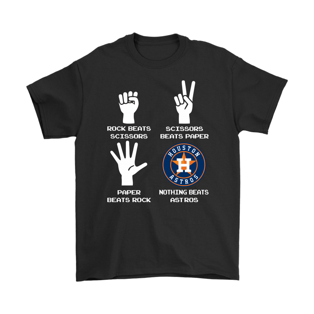 Rock Paper Scissors Nothing Beats The Houston Astros Shirts 1