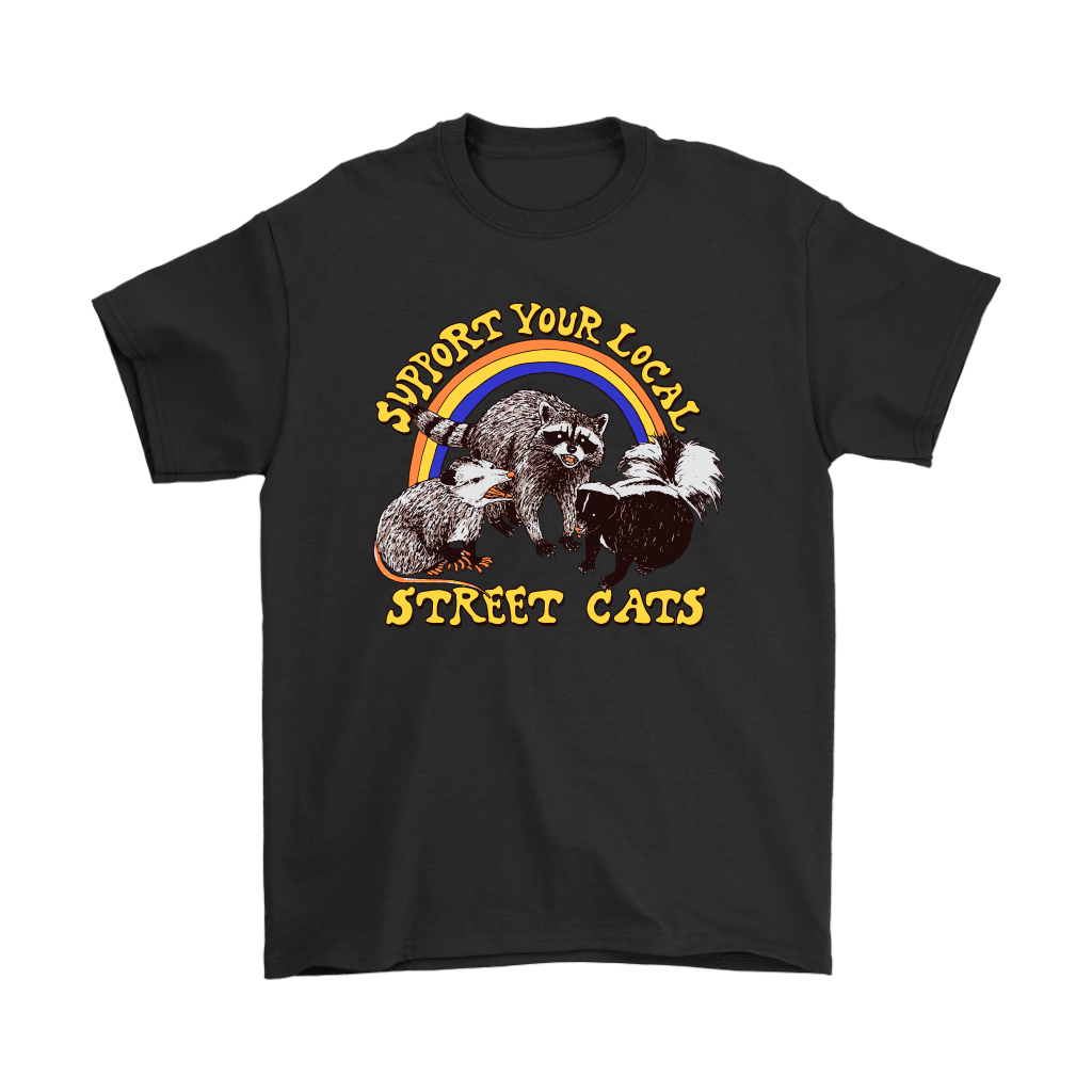 Support Your Local Street Cats Trash Panda Skunk Wild Animal Shirts 1