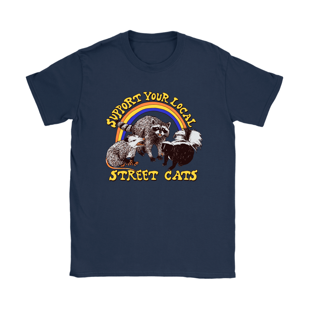 Support Your Local Street Cats Trash Panda Skunk Wild Animal Shirts 10