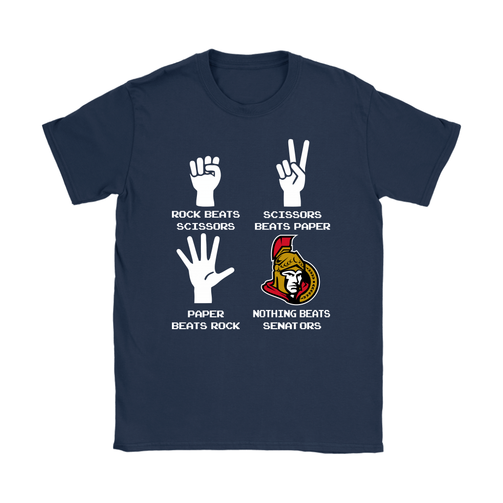 Rock Paper Scissors Nothing Beats The Ottawa Senators Shirts 10