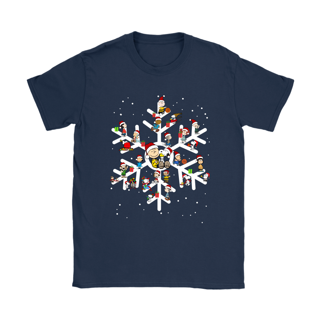The Peanuts A Joyful Christmas With Snoopy Snowflake Shirts 9