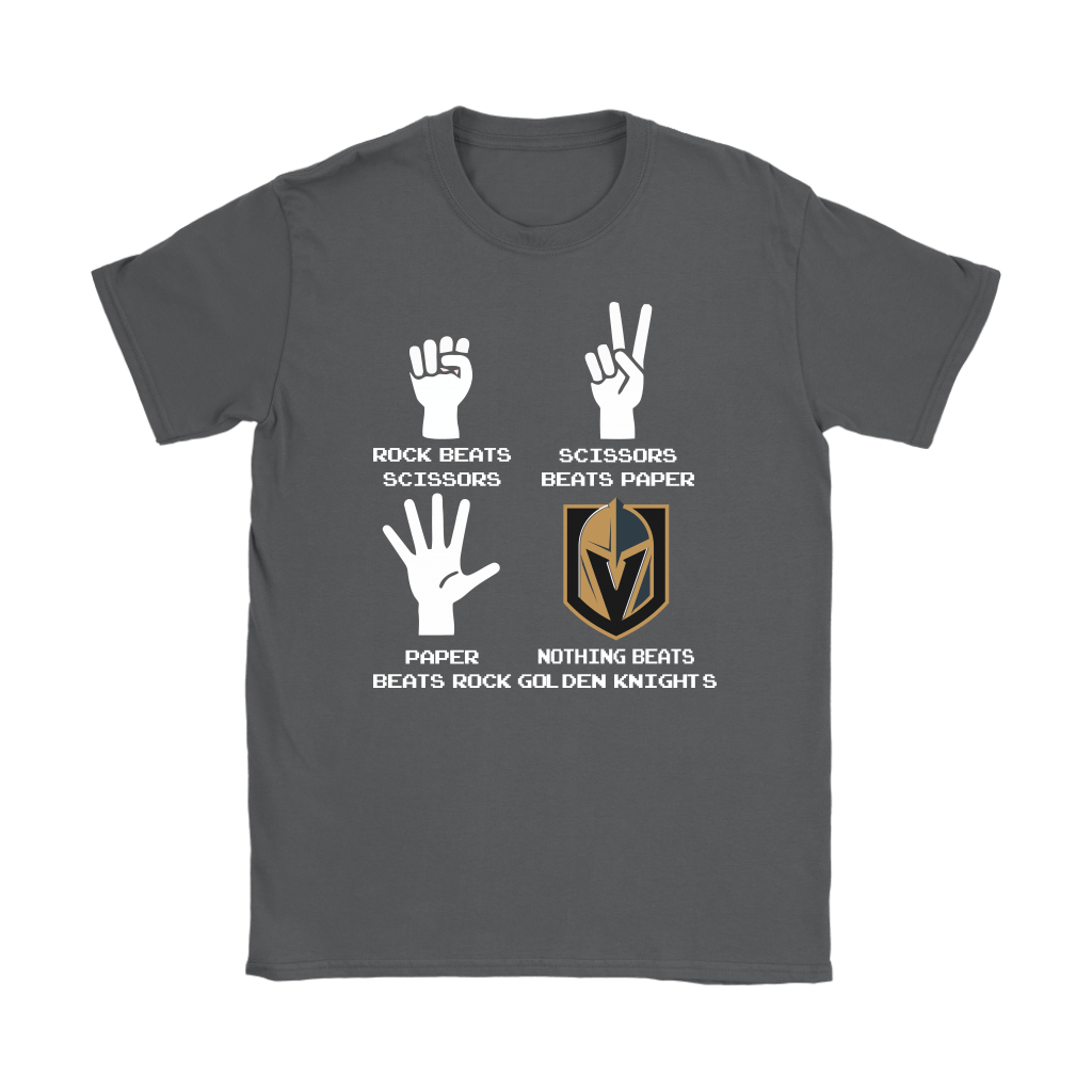 Rock Paper Scissors Nothing Beats The Vegas Golden Knights Shirts 9