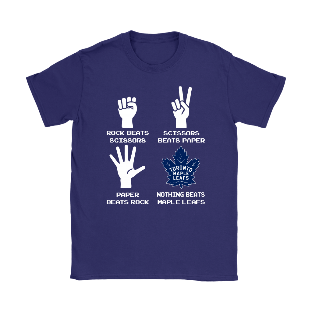 Rock Paper Scissors Nothing Beats The Toronto Maple Leafs Shirts 11