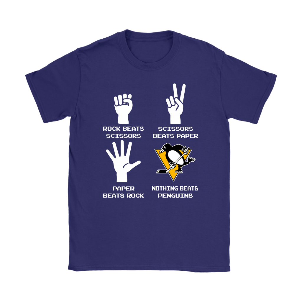 Rock Paper Scissors Nothing Beats The Pittsburgh Penguins Shirts 11