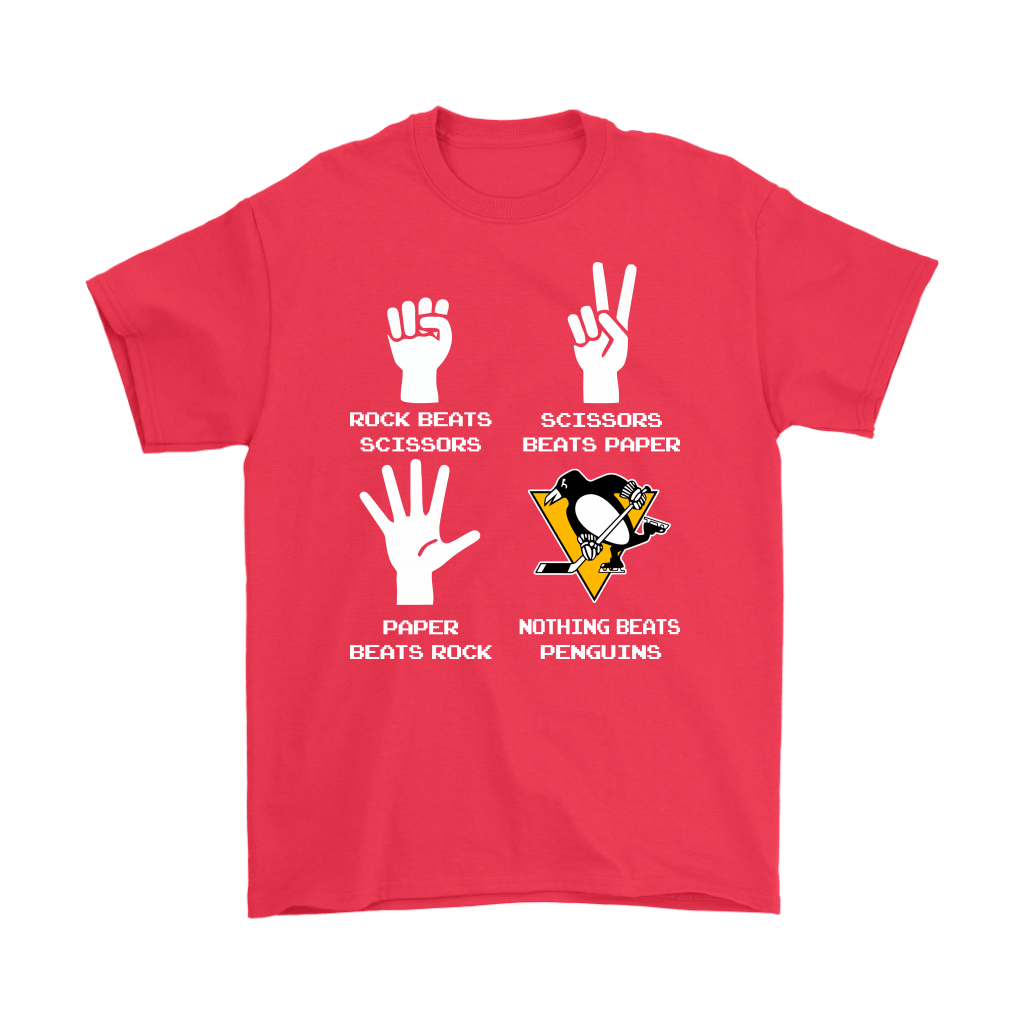 Rock Paper Scissors Nothing Beats The Pittsburgh Penguins Shirts 5