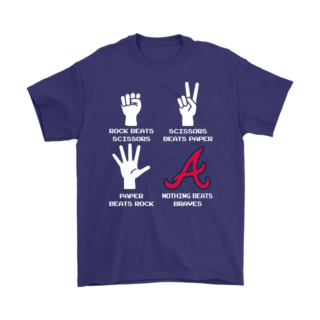 Rock Paper Scissors Nothing Beats The Atlanta Braves Shirts 4
