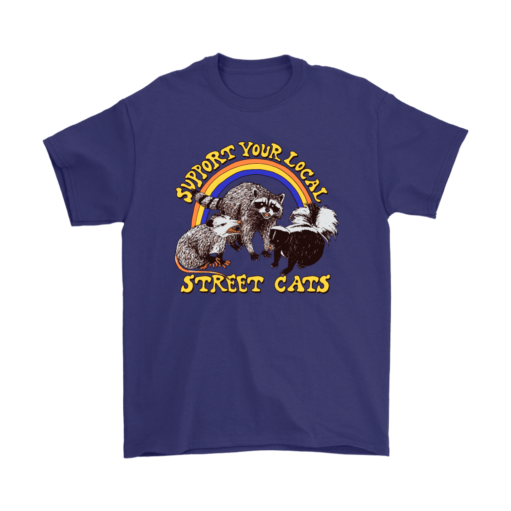 Support Your Local Street Cats Trash Panda Skunk Wild Animal Shirts 4