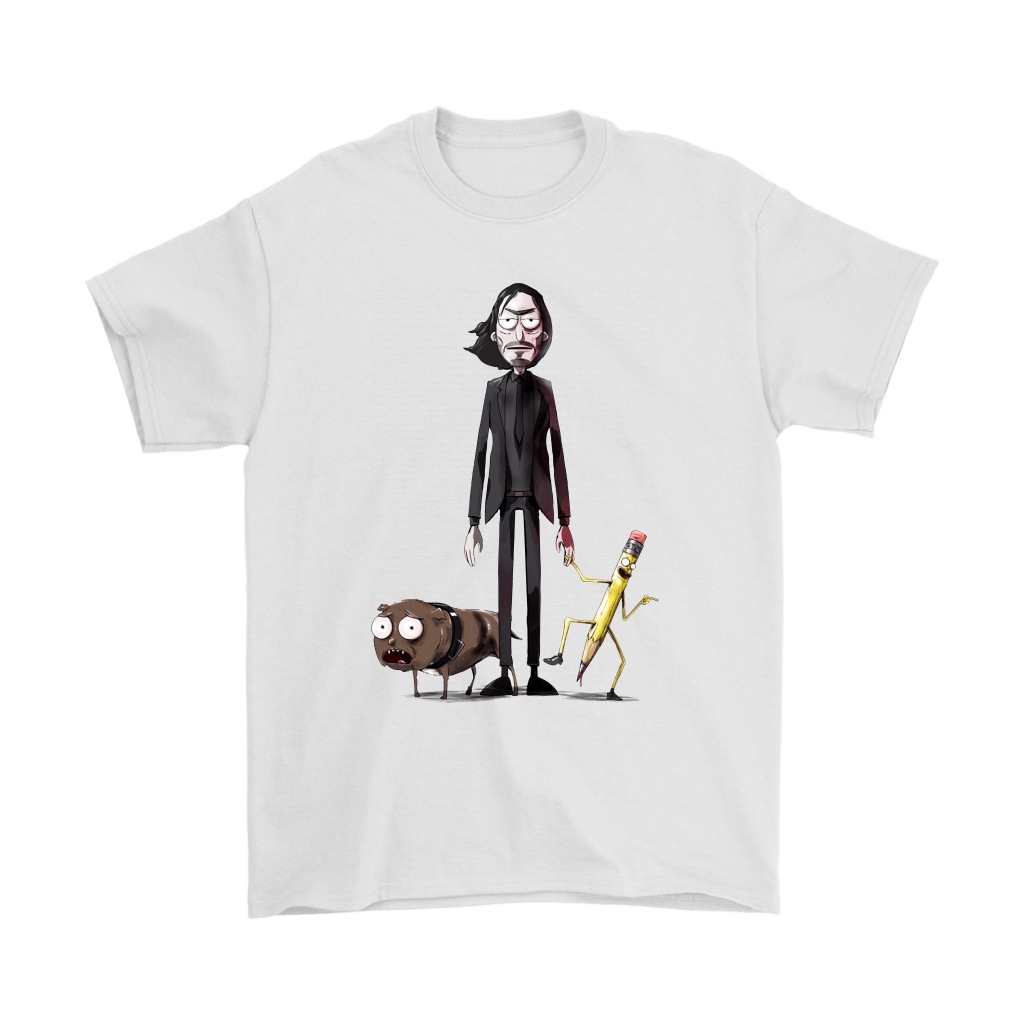 John Wick Dog And Pencil In Rick And Morty Style Shirts 7