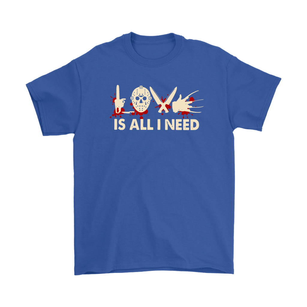 Love Is All I Need Horror Killers Style Shirts 5
