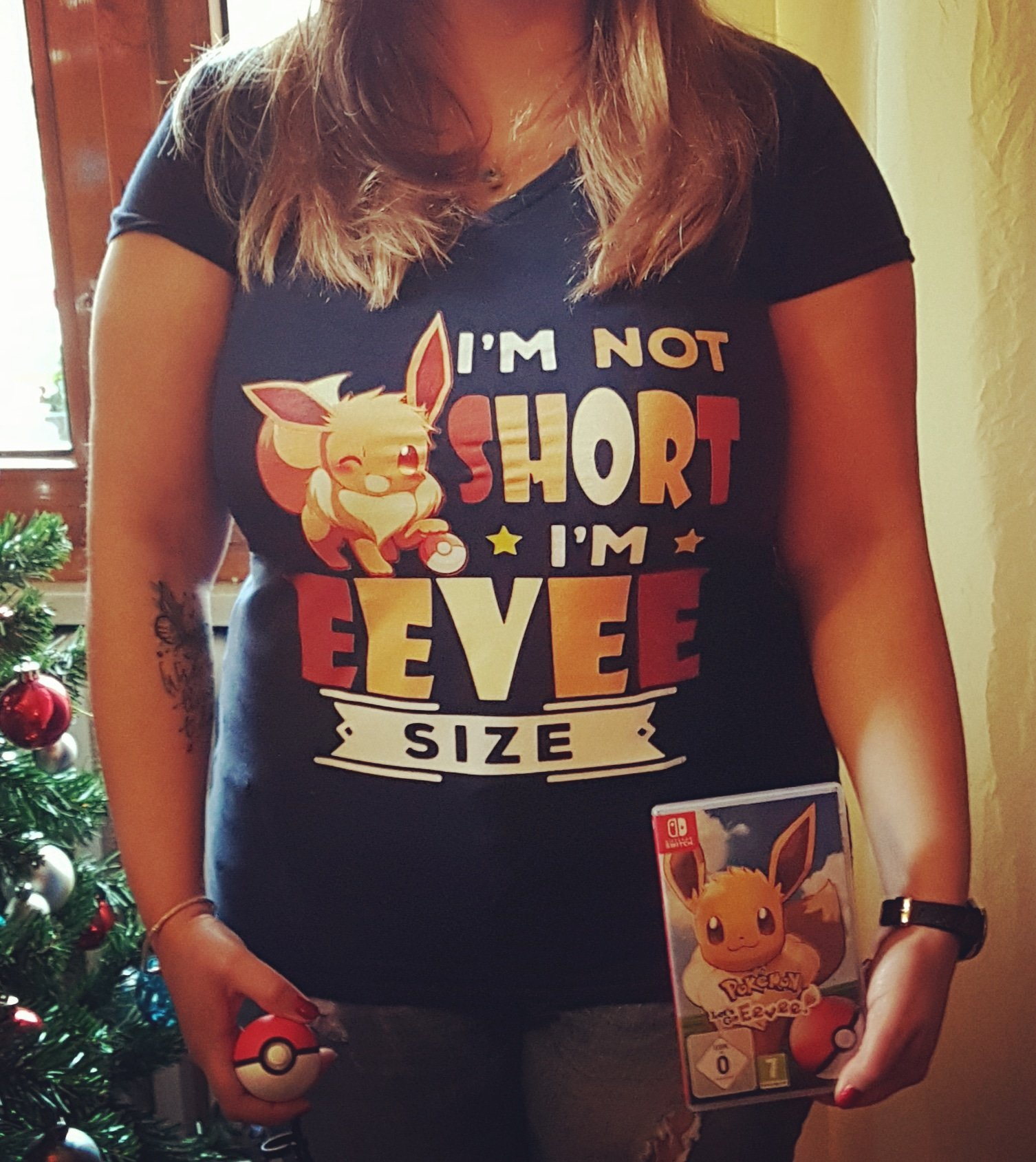 I'm Not Short I'm Eevee Size Pokemon Shirts photo review