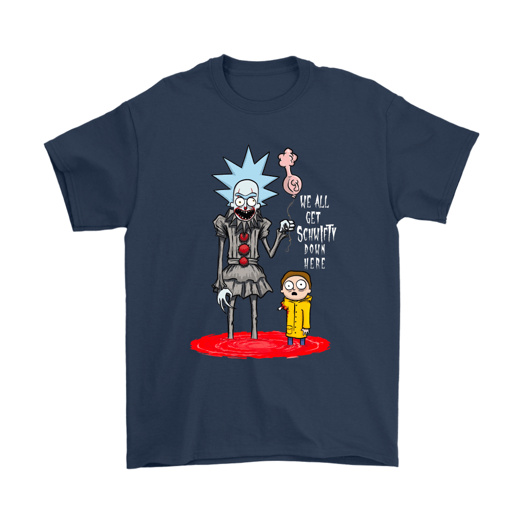 Rick And Morty Pennywise Horror Mashup Shirts 3
