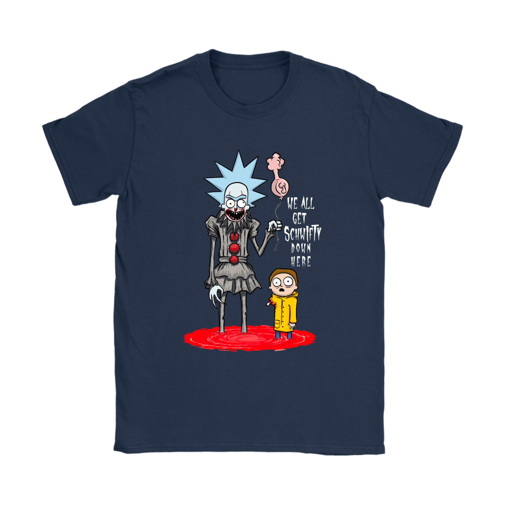 Rick And Morty Pennywise Horror Mashup Shirts 9