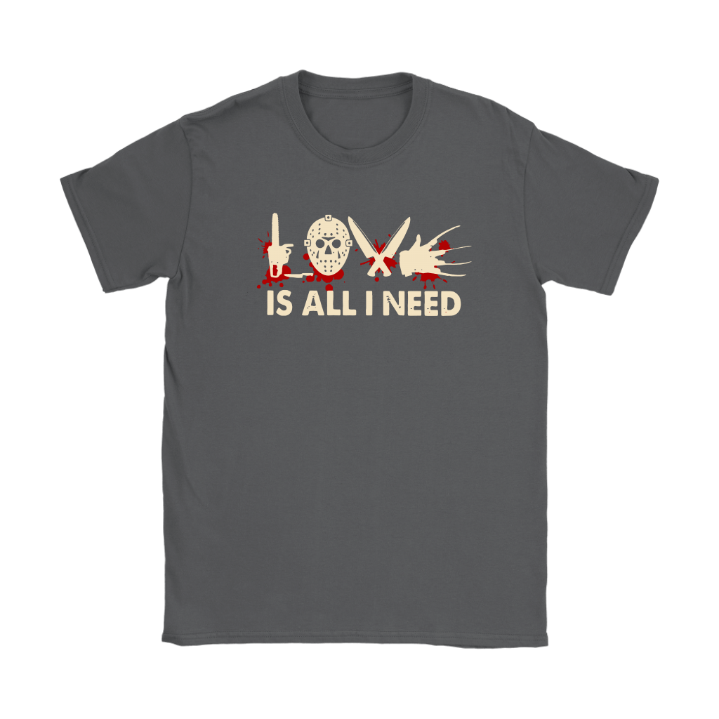 Love Is All I Need Horror Killers Style Shirts 7