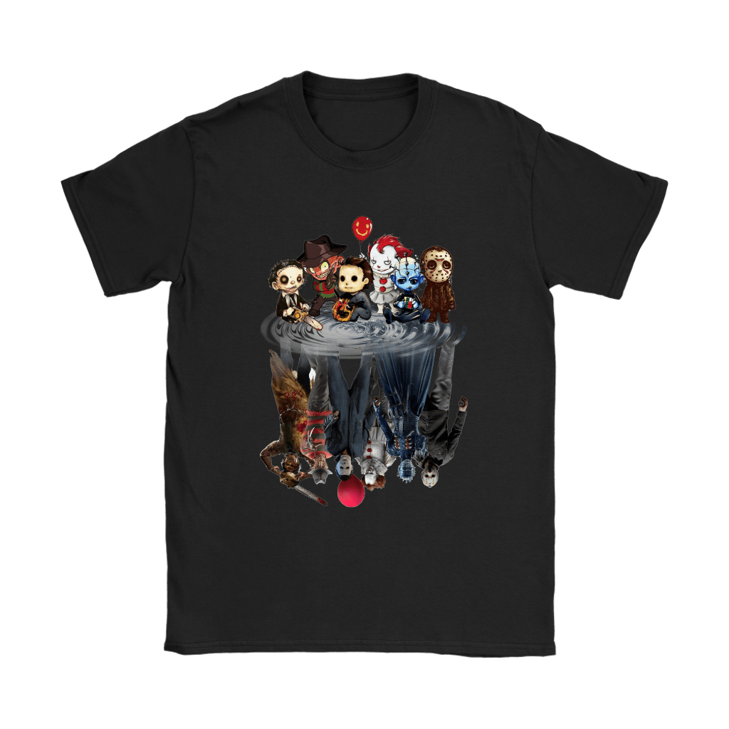 Horror Movies Killers Chibi Reflection Shirts 6