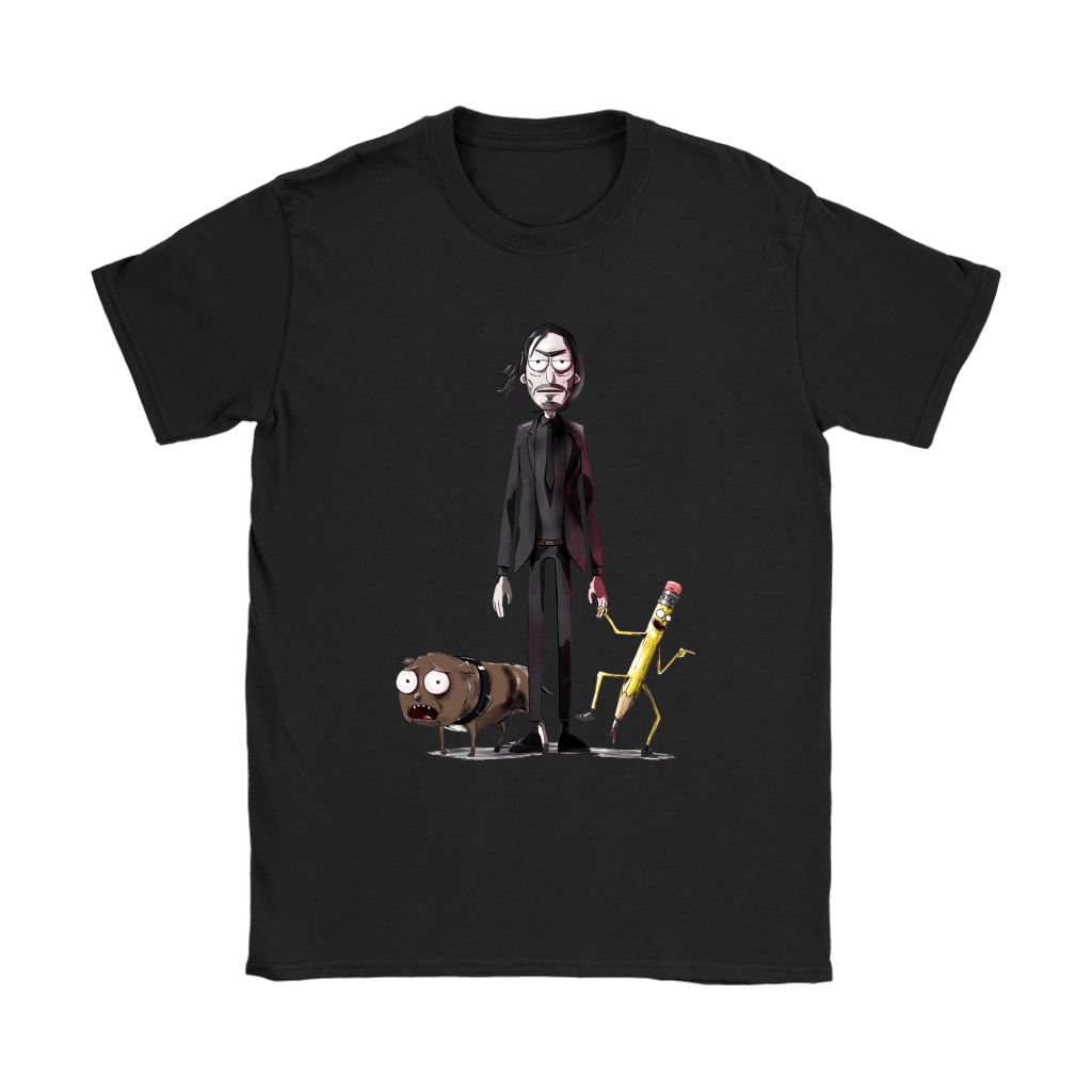 John Wick Dog And Pencil In Rick And Morty Style Shirts 8