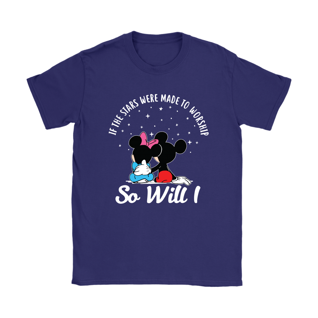 If The Stars Were Made To Worship So Will I Mickey And Minnie Shirts 12