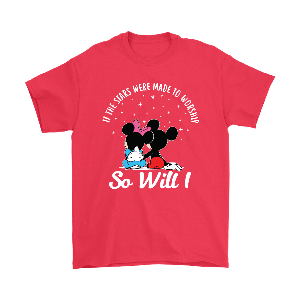 If The Stars Were Made To Worship So Will I Mickey And Minnie Shirts 5