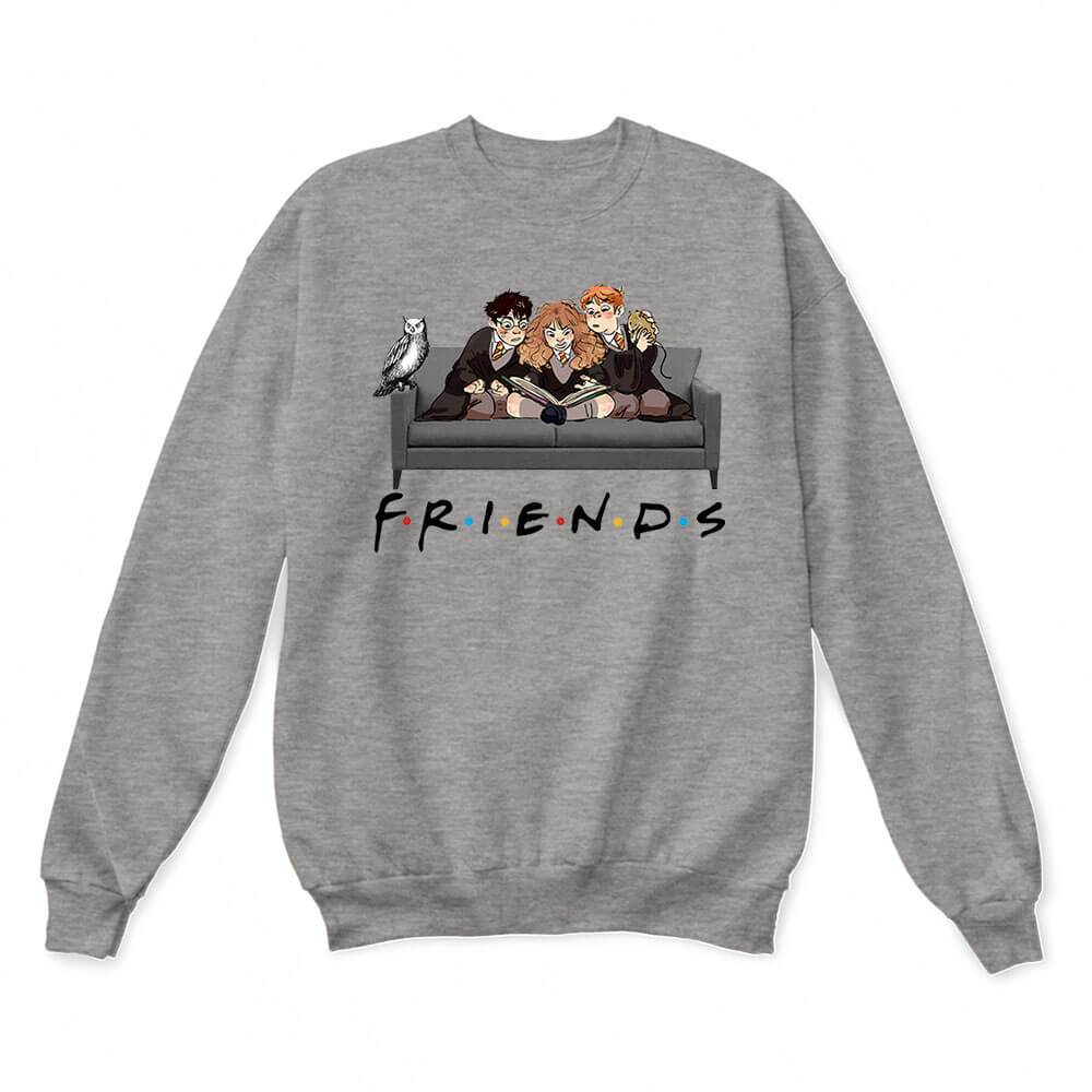 The Golden Trio FRIENDS Harry Potter Hermione & Ron Sweater 2