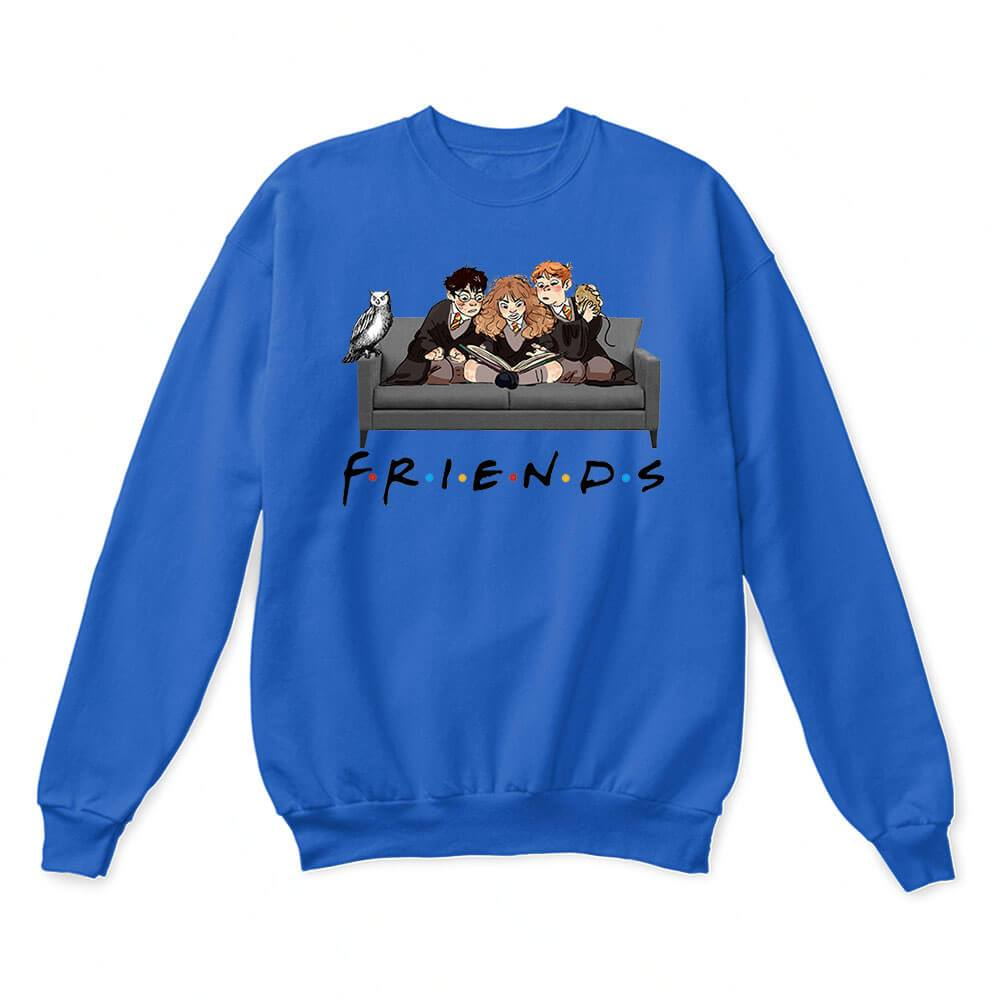 The Golden Trio FRIENDS Harry Potter Hermione & Ron Sweater 3