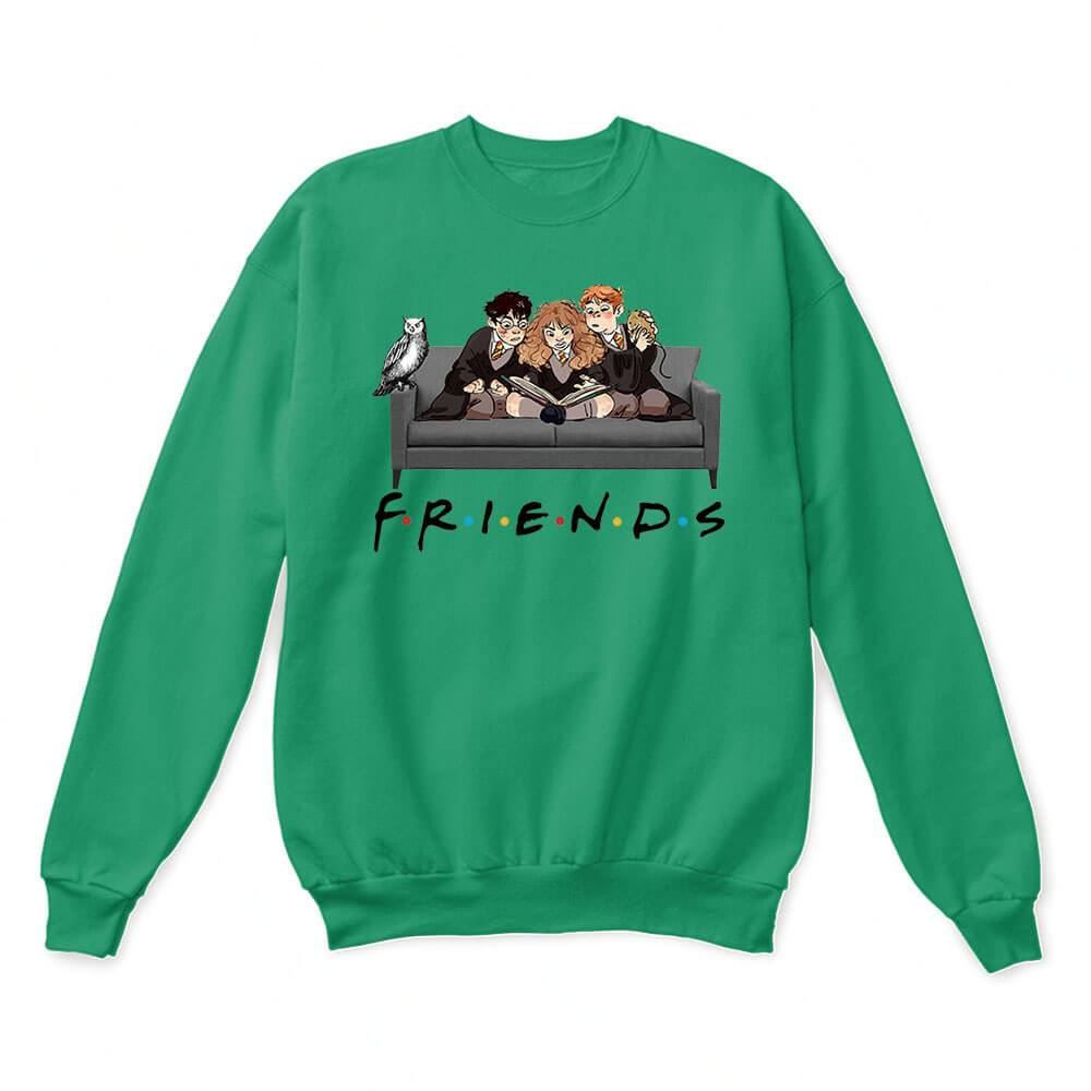 The Golden Trio FRIENDS Harry Potter Hermione & Ron Sweater 5