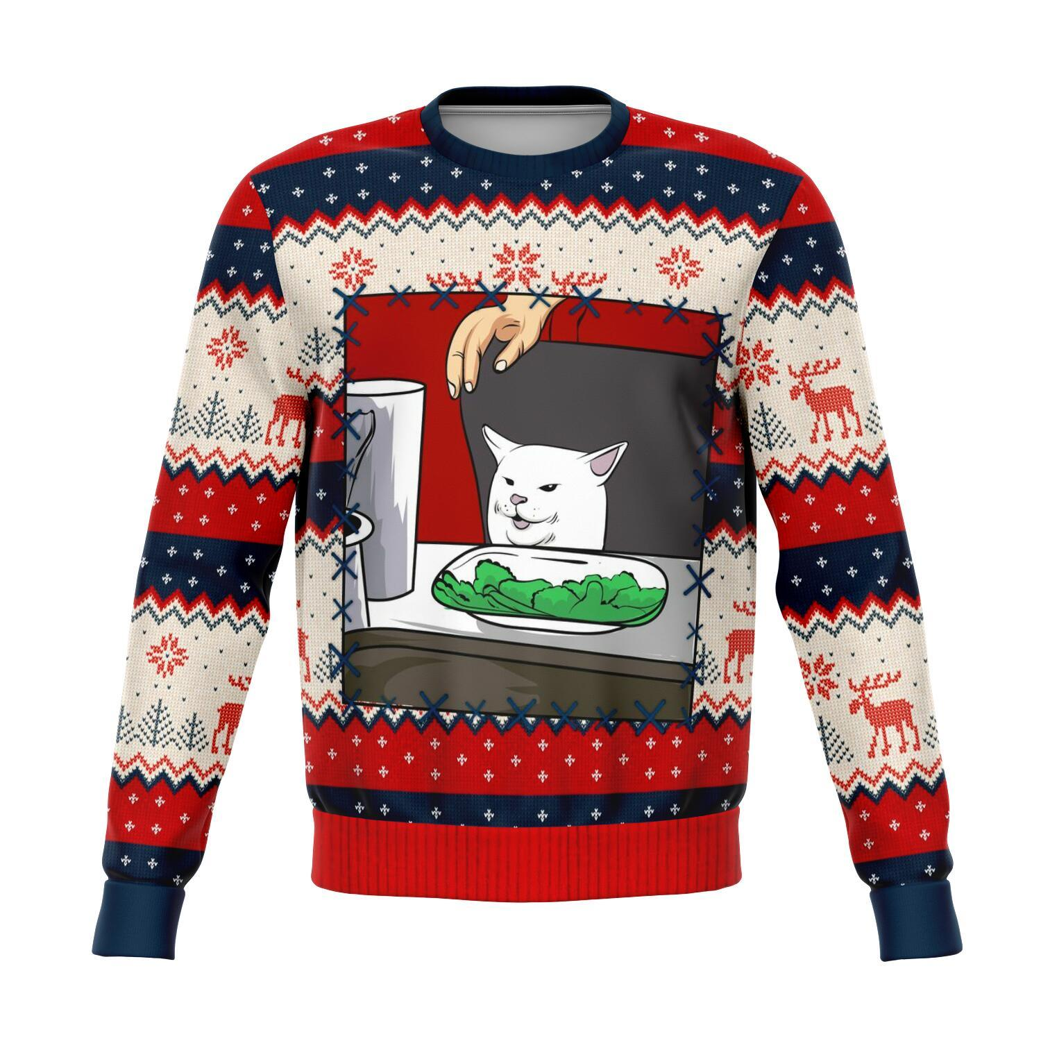 Woman Yelling At A Cat Meme King #2 All-Over Printed Sweaters 1