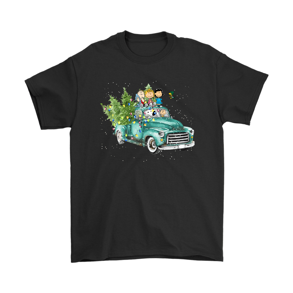 Snoop And The Peanuts Drive Home With The Christmas Trees Shirts 1