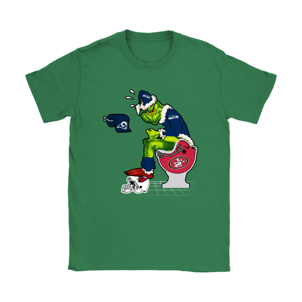 The Grinch Seattle Seahawks Shit On Other Teams Christmas Shirts 14