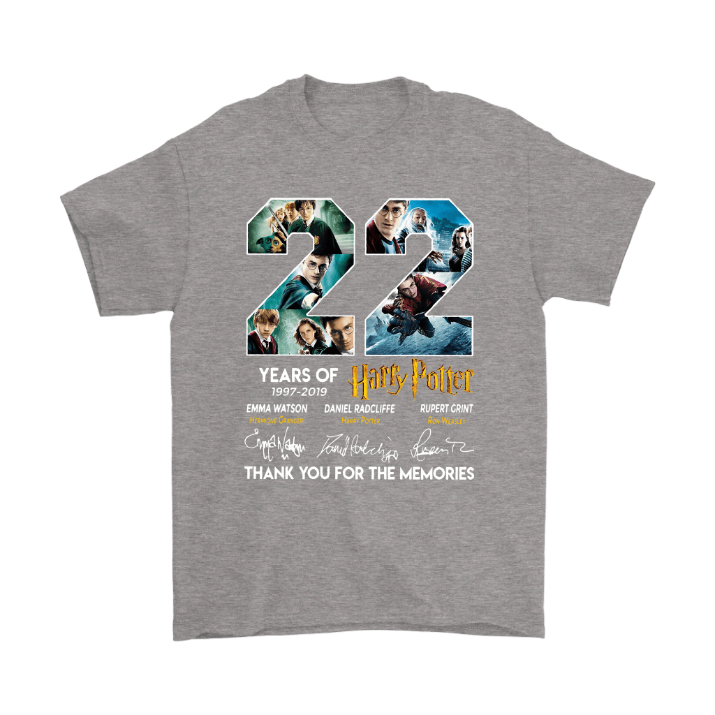 22 Years Of Harry Potter 1997 2019 Shirts 6
