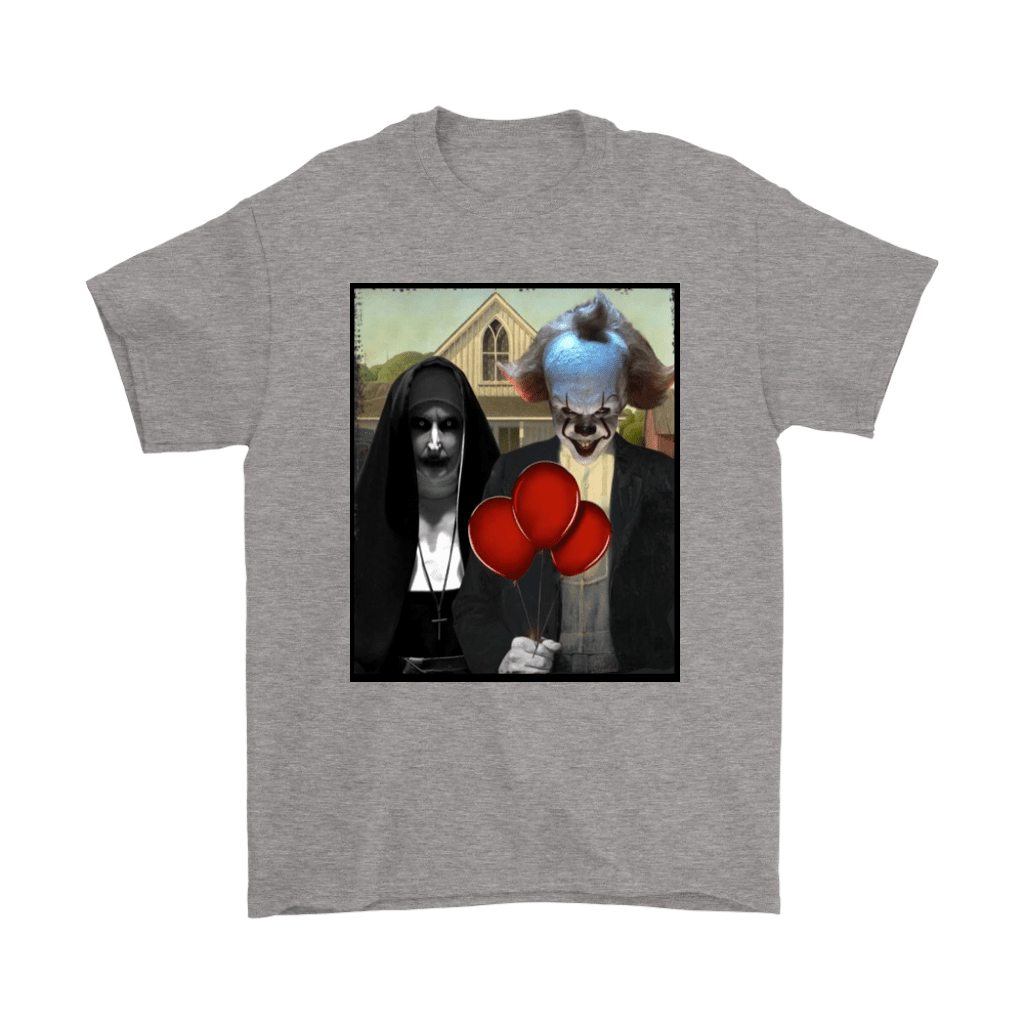 The Nun Valak And Pennywise Horror Mashup Shirts 6