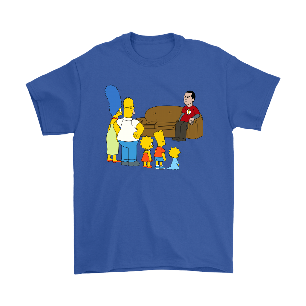 The Simpsons Family And Sheldon Cooper Mashup Shirts 5