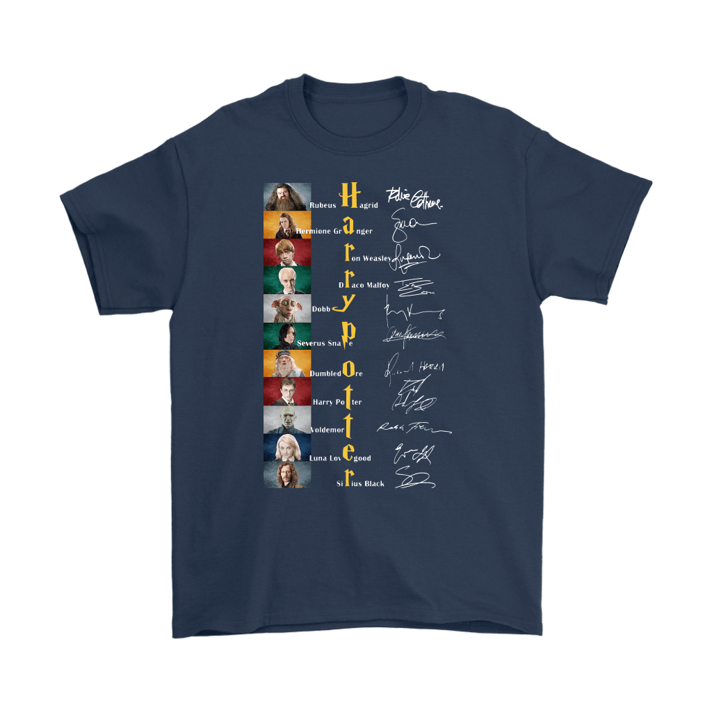 Harry Potter All Characters Name Signature Shirts 3