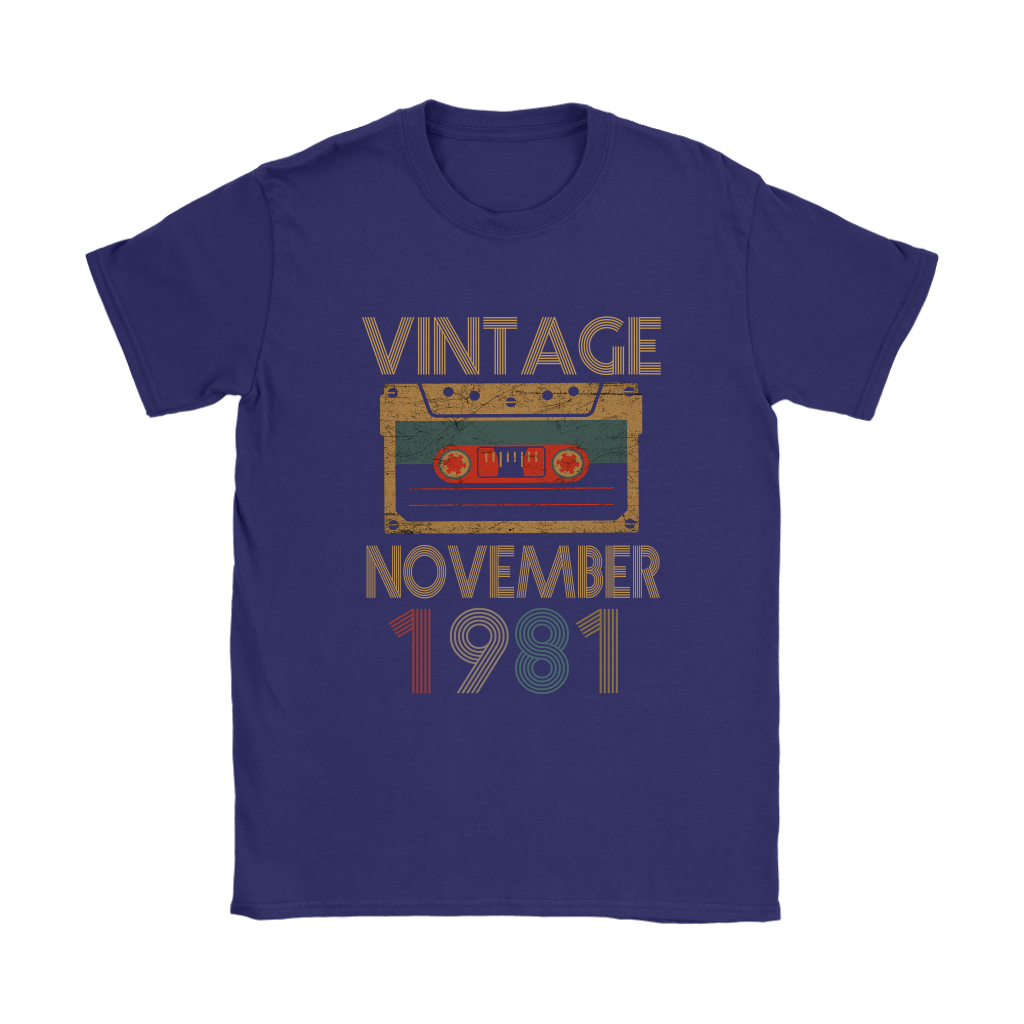 Vintage November 1981 Cassette Tape Birthday Shirts 6
