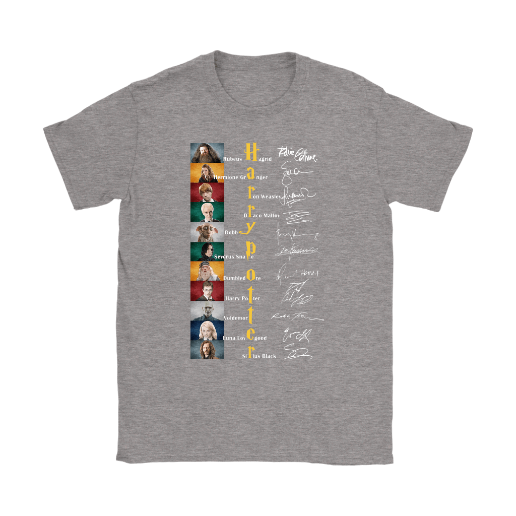 Harry Potter All Characters Name Signature Shirts 14