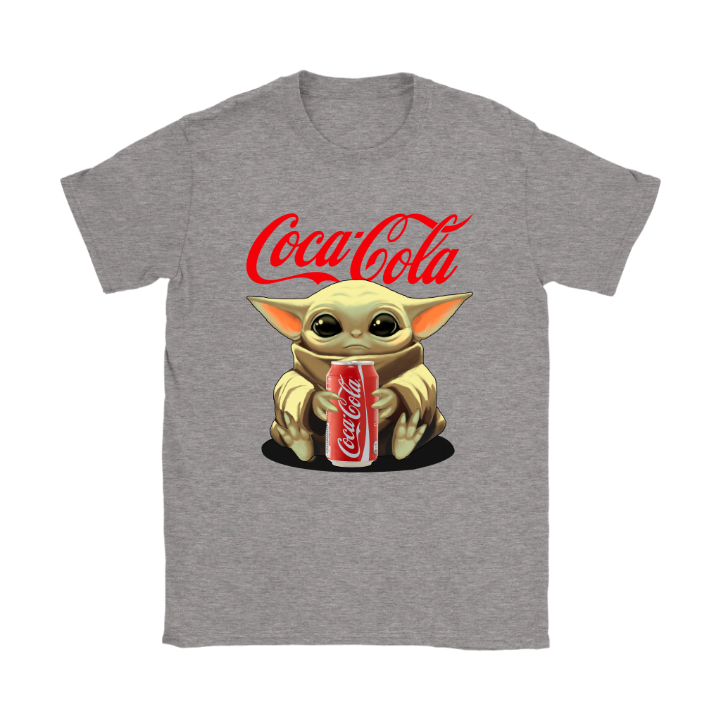 Baby Yoda Hugs Coca Cola Can Star Wars Shirts 13