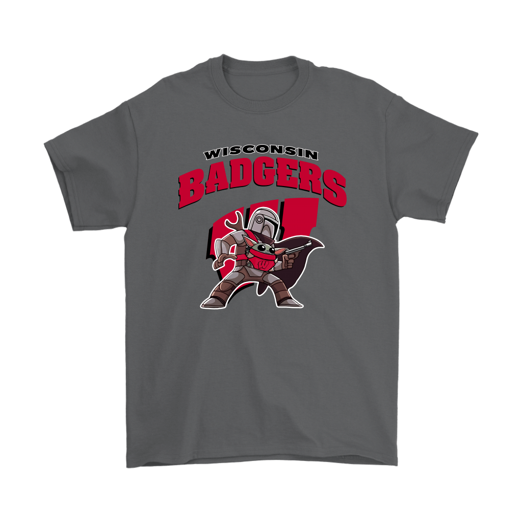 The Mandalorian & Baby Yoda Wisconsin Badgers NCAA Shirts 2