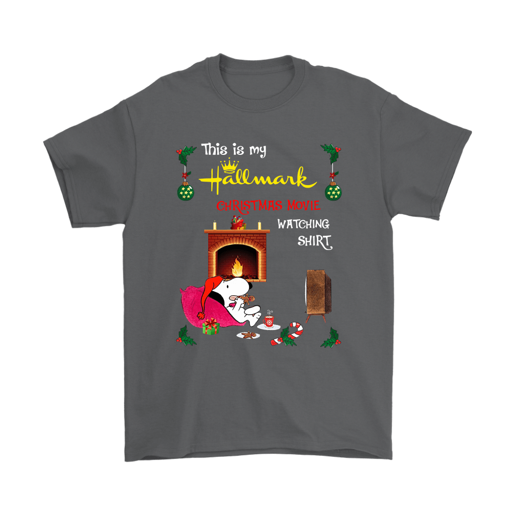 Snoopy This Is My Hallmark Christmas Movie Watching Shirts 2